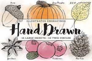 Fall Illustrated Engravings
