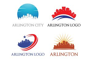 4 Arlington Logo - City Skyline