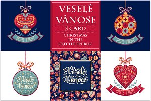 Vesele Vanoce. Christmas card. Czech