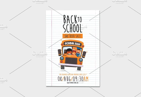 Back-To-School 1-hour Sale Flyer