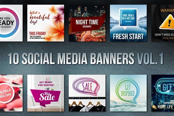 Social Media Banners Vol 1