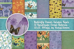 Butterfly Garden Flower Patterns
