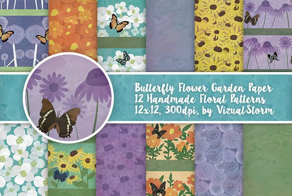 Butterfly Flower Garden Patterns