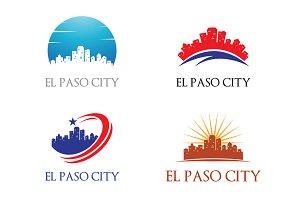 4 El Paso Logo - City Skyline