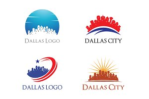 4 Dallas Logo - City Skyline