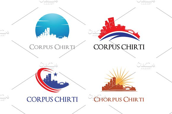 4 Corpus Chirti Logo City Skyline