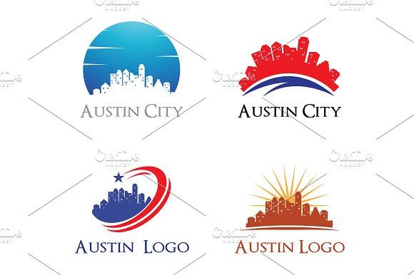 4 Austin Logo City Skyline Cityscape