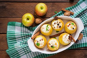 Appetizing baked apples