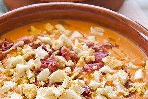 Salmorejo, spanish food