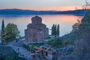 The Church of Saint John at Kaneo, Lake Ohrid Macedonia