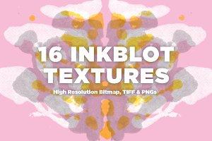 16 Inkblot Textures