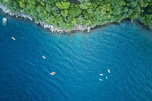 Kayaking adventure above view
