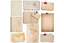 Old Paper Sheets, Book, Envelope