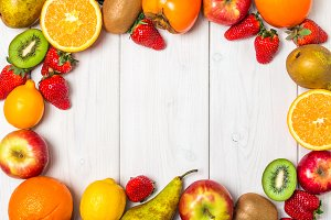 Fruits and berries  frame