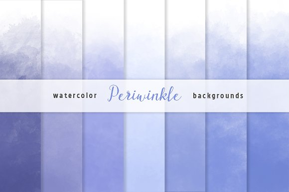 Periwinikle Watercolor Backgrounds
