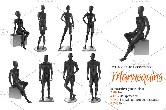 Mannequins Realistic Set