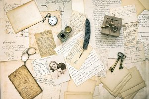 Old Love Letters and Vintage Photo