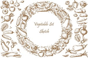 Vegetable Set Sketch