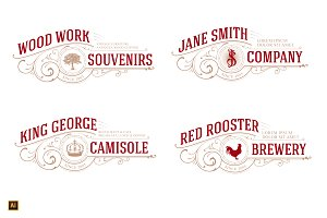 4 in 1 Logo Tree, Crown, Rooster, JS