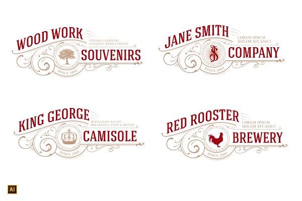 4 in 1 Logo Tree, Crown, Rooster, J…