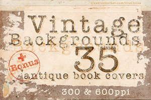 Vintage Backgrounds – 35 book covers