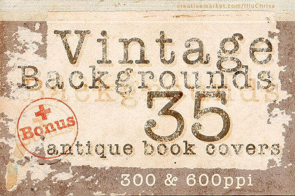 Vintage Backgrounds 35 Book Covers