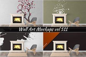 Wall Mockup - Sticker Mockup Vol 511