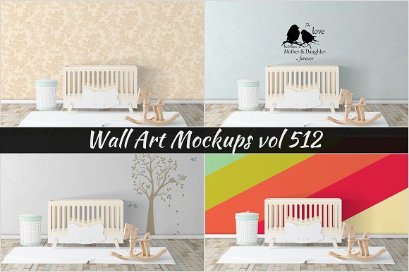 Wall Mockup Sticker Mockup Vol 512