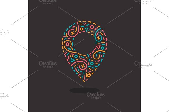 Abstract Business Logo Icon With Location