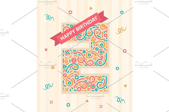 Happy Birthday Number 2 Greeting Card For Two Year