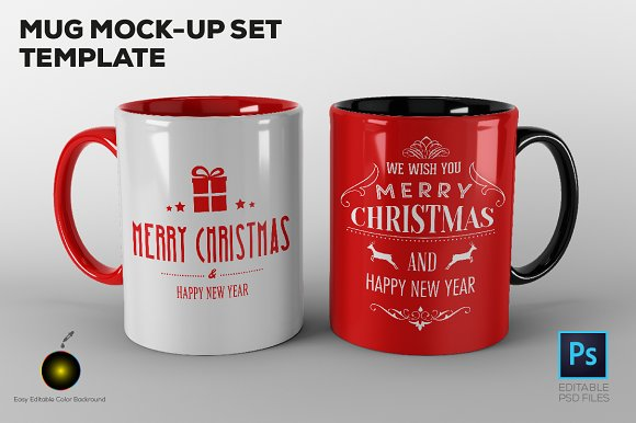 Mug Mock-up Set Template