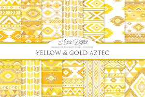 Yellow & Gold Boho Seamless Pattern