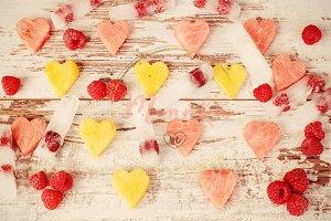 Fruit hearts