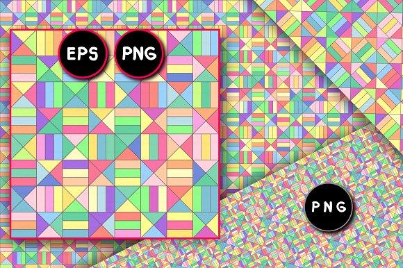 Vector Geometric Seamless Pattern