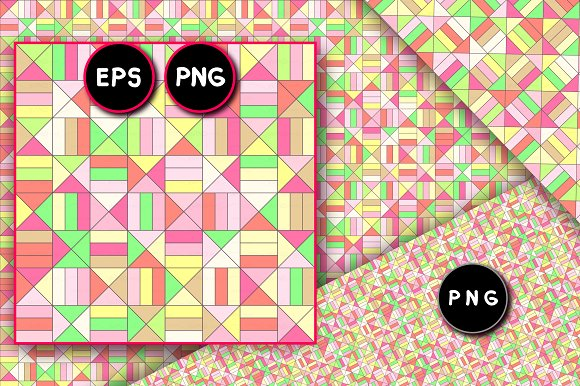 vector geometric seamless pattern in Patterns