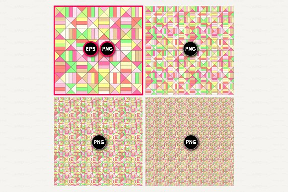 vector geometric seamless pattern in Patterns - product preview 1