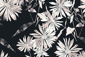 chamomiles seamless pattern | JPEG
