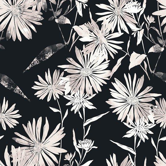 Chamomiles Seamless Pattern JPEG