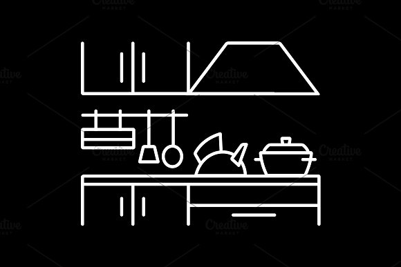 Cooking Foods And Kitchen Icon