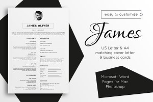 Resume Template | Cover Letter James