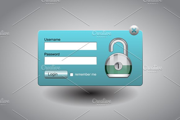 Modern Window Login Form