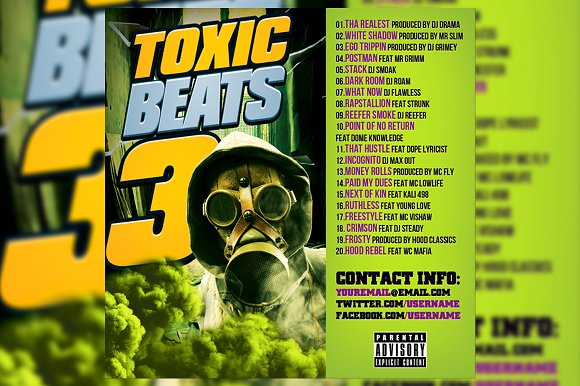 Toxic Beats Album Cover Design