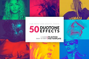50 Duotone Photoshop Actions