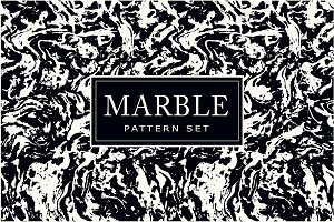 7 Marble seamless patterns set