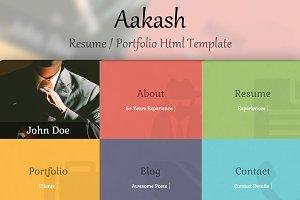Aakash - Portfolio / Resume Template
