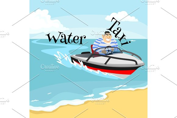 Jet Ski Water Extreme Sports Isolated Design Element For Summer Vacation Activity Concept Cartoon Wave Surfing Sea Beach Vector Illustration Active Lifestyle Adventure