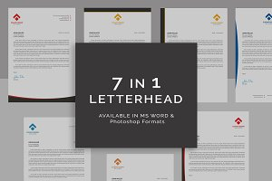 7 In 1 Letterhead Template