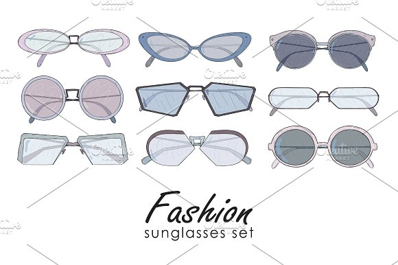 Set Of Fashionable Glasses