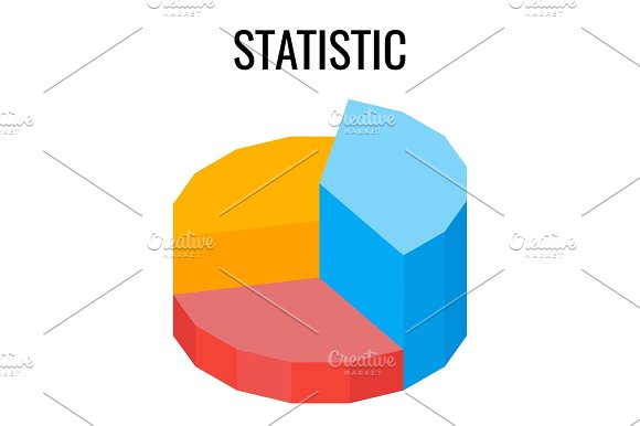 Statistic Round Chart Infographic Template Vector Poster