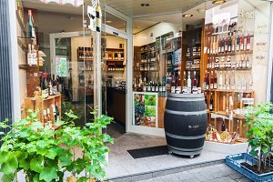 Mosel wine shop in Germany